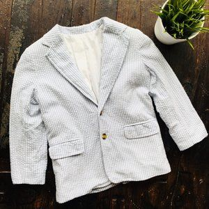TALBOTS Striped Seersucker Blazer Jacket Boy's 7